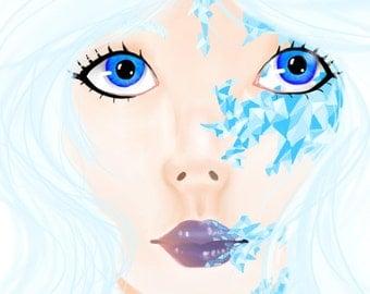 Frozen - Digital Art  20.8 x 27.5cm  FREE Postage in Australia!!!