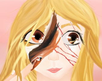 Scars - Digital Art - 20.4 x 27.9cm Free Postage in Australia!!!