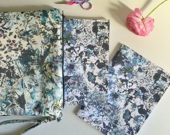 A/5 format notebook with blank pages and coordinated clutches