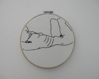 Egon Schiele Stitchery