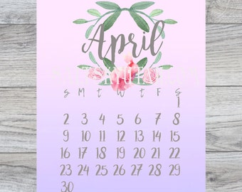 April downloadable calendar