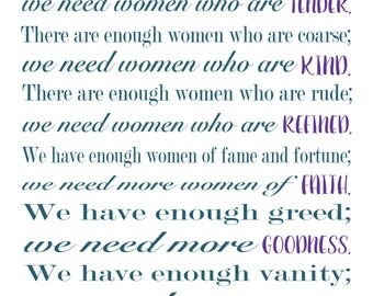 5x7 Women of God quote by Margaret Nadauld