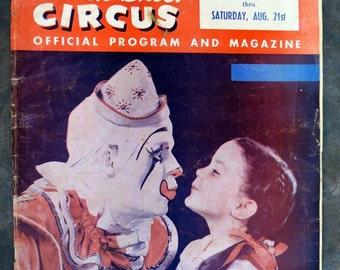 1954 Paris Tennessee Shrine Polack Bros Circus Program & Magazine