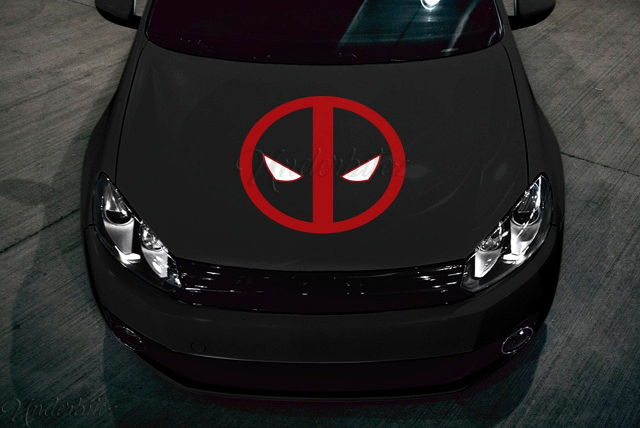 Deadpool Hood Decal 23 Multi Use Vinyl Sticker For Car