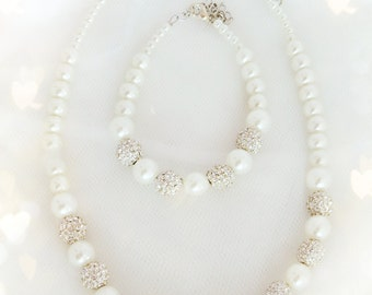 5 FULL SETS Freshwater Pearl Bridesmaids Set or Bridal Set Ivory or White
