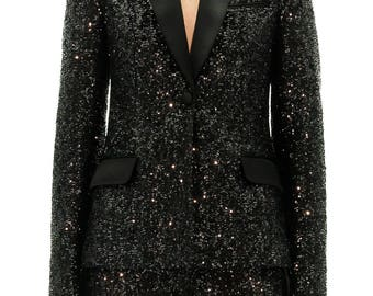 Black Tuxedo Jacket with sequins