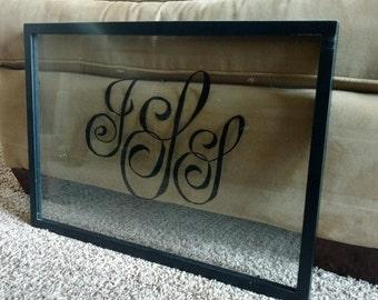 Monogram Glass Frame