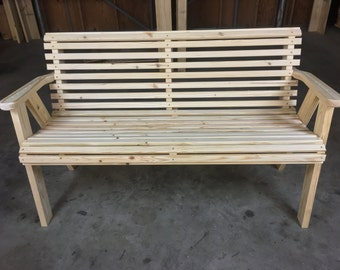 Peach State Extreme Duty Roll Back 5' Bench Hand made here in the USA!
