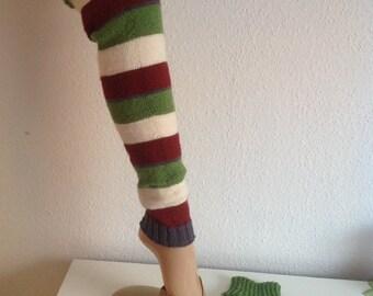 Handmade leg warmers of legwarmers