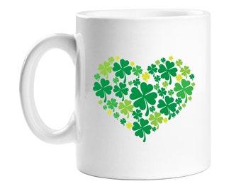 Coffee Mug - Shamrock Heart- Birthday Gift - Holiday Gift  - WCM11OZ-ED23Q