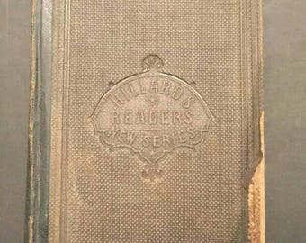 1863 Hillard's Fifth Reader For Public And Private Schools Text Book Education