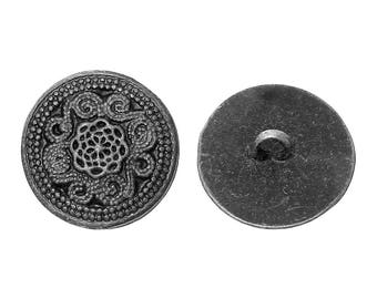 20 buttons, metal, vintage style, antique-style, 20mm 09335