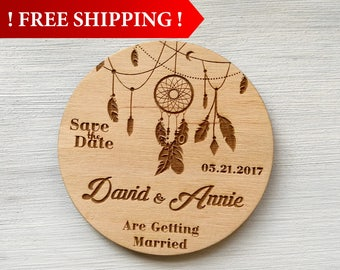 Free Shipping! Wedding Save the Date Magnet Wedding Invitation Rustic Wedding Custom Magnets Wedding Save the Date Wedding Invitation Set