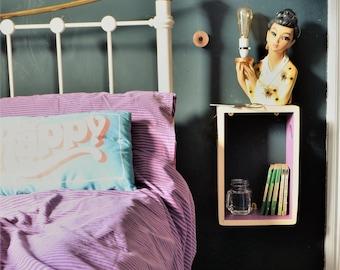 Bedside Table - Bedroom Furniture - Bedside Cabinets - Small Bedside Table - Floating Shelves - Narrow Bedside Table - Bedroom Shelves