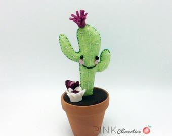 Mini wool felt Cactus / mini wool felt cactus / terracotta / home decor