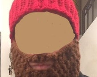 Hat with beard for men