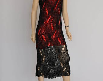 hand made knitted dress, made of cotton bamboo