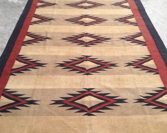 ARTICLE # 6026 Special High Quality Stripped Hand Made Wool Kilim Rug 269 x 184 CM ( 8.8 x 6.0 Feet)