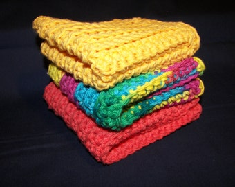 Colorful Cotton Dishcloths