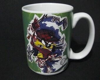 Vintage Tasmanian Devil Golf Mug, Taz Mug, Warner Brothers Looney Tunes Mug