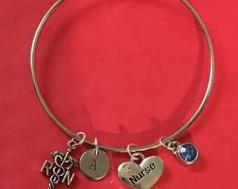 Registered Nurse (RN) Charm bracelet