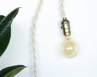 Lamp hanging macrame/macramé/ceiling lights macrame/macramé/light lamp/mobile/light/lamp lamp / lamp Bohemian / Boho