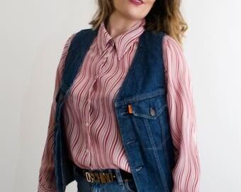 Vintage 70's Levi's Denim Waistcoat