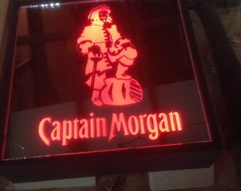 Captain Morgan Remote Controlled Color Changing LED lit mirror