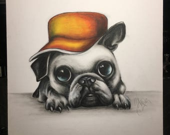 PUG DOG - Original Acrylic Painting