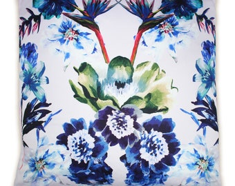 Flapper Multi Birds of Paradise Print Cushion