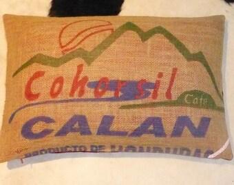"Pillowcase original coffee bag cushion ""Cohorsil"", 60 x 40 cm"