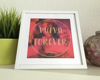 Art print - vulva forever image/picture frame