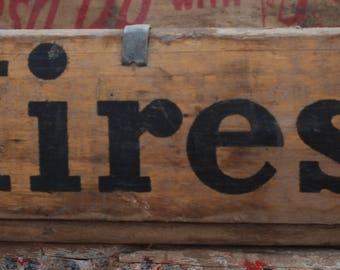 Vintage Wood Soda Crate Hires Display Craft