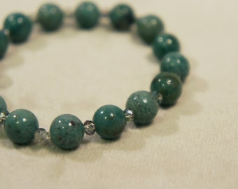 Genuine Dragon's Blood Jade Bracelet Semi Precious Stone Gemstone Healing Crystal Chakra Metaphysical Gift