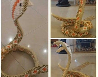 Origami snake - Hand made of colorful paper