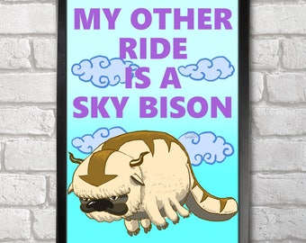 Appa Sky Bison Poster Print A3+ 13 x 19 in - 33 x 48 cm  Buy 2 get 1 FREE