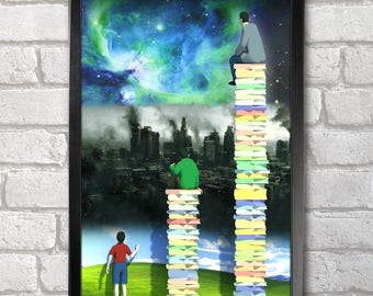 Read Books Poster Print A3+ 13 x 19 in - 33 x 48 cm  Buy 2 get 1 FREE