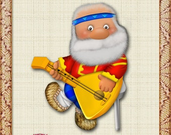 Picture grandfather, grandfather of APG, APG grandfather Clipart old man, old man clipart grandfather with a balalaika, grandfather picture