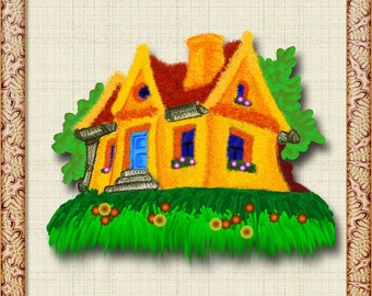 Picture house, PNG house, house PNG, Graphics house, Graphics house, picture house, Clipart house,