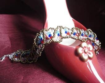 Crystal Wave Cinderella Beaded Bracelet - B53
