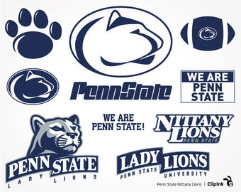 Penn State Nittany Lions svg clipart, silhouette files, digital download – svg, eps, png, dxf, pdf. University Cut Print Mug Shirt Decal.