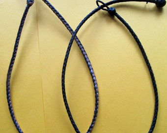 Braided sheep leather cord.