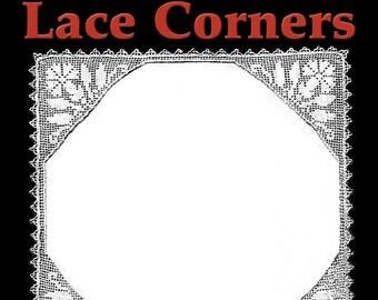 Carnation Lace Corners Filet Crochet Pattern