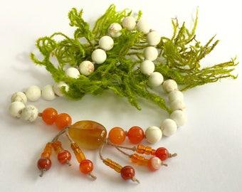 Orange Blossom: 27-Bead Mala / Nenju / Juzu / Meditation Beads
