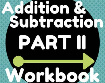 Workbook (8 Pages) Two-Digit Whole Number Addition and Subtraction (Combinations up to 11)