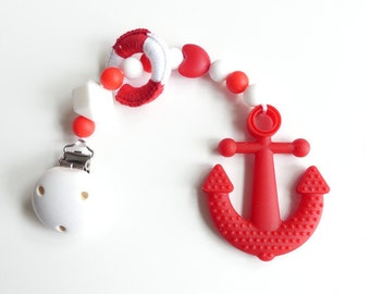 Biting chain silicone anchor Red
