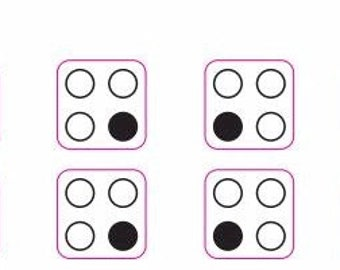 4 ring cooker top markings decals - double set