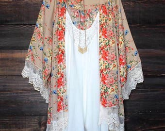 Floral cardigan, Flowers, Summer, Spring, Lace, Style, Trendy