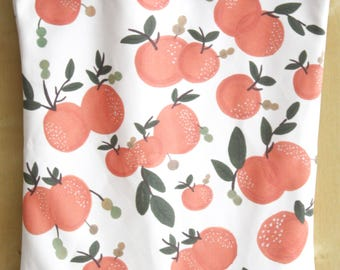 Peaches Tote Bag, Peaches Shopping Bag, Fruits Print Tote Bag, Fruits Pattern Tote Bag