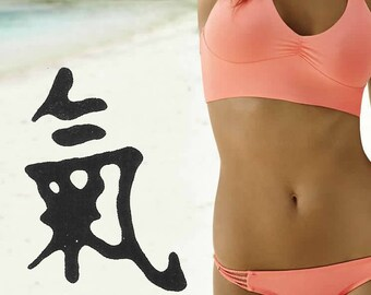 Energy Kanji Chinese Fake Temporary Tattoo